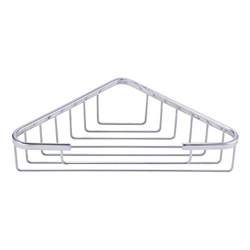 KES Bad Eckwanne und Dusch Caddy Korb Dreieckige SUS 304 Edelstahl Wandhalterung, Poliert, A2120A
