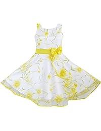Mädchen Kleid 3 Schichten Sonnenblume Welle Festzug Brautjungfer Gr. 98-146