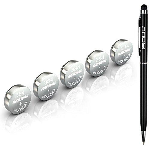 5x-rayovac-384-sr41sw-watch-battery-swiss-made-silver-oxide-isoul-black-stylus-touch-pen-bundle-deal