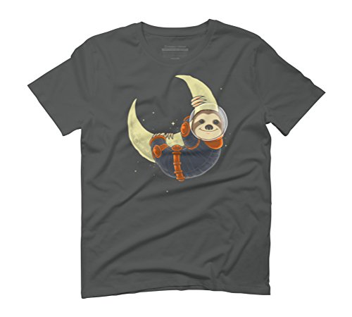 Sloth need more space Men's Graphic T-Shirt - Design By Humans Anthracite