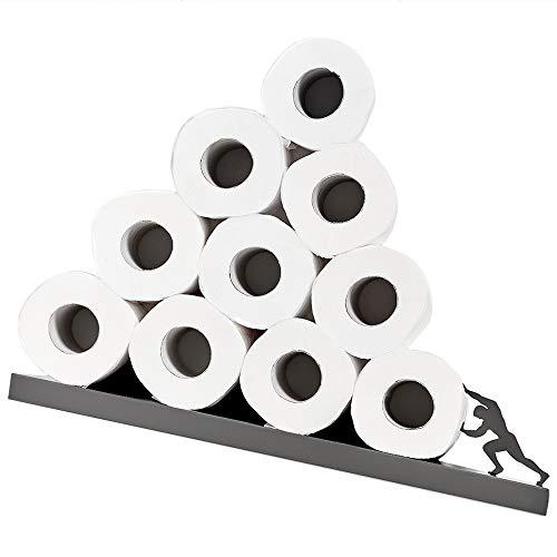 Toilettenpapier Aufbewahrung - Grau Ablage für Toilettenpapierrollen - Toilettenpapier Regal - Badzubehör - Sisyphus Einzigartige Toilettenpapier Aufbewahrung aus der Griechischen Mythologie