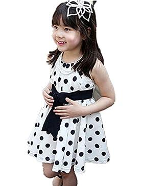 Italily-1PC Bambini Abbigliamento per bambini Polka Dot Girl Chiffon vestito estivo