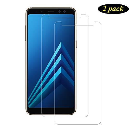 Pellicola Protettiva per Samsung Galaxy J6 Plus 2018 Display Proteggi Schermo 9H Anti graffio Senza Bolle SONWO Galaxy J6 Plus 2018 Vetro Temperato Alta Definizione 2 Pezzi