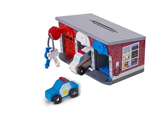 Melissa & Doug Rettungsdienstgarage aus Holz mit Fahrzeugen (8 Teile) (Spielzeug Melissa Doug Und)