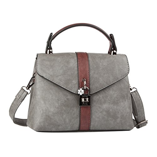 YouPue Neue Frauen Handtasche Kleines PU Leder Damen Taschen Schultertasche Crossbody Tasche Grau