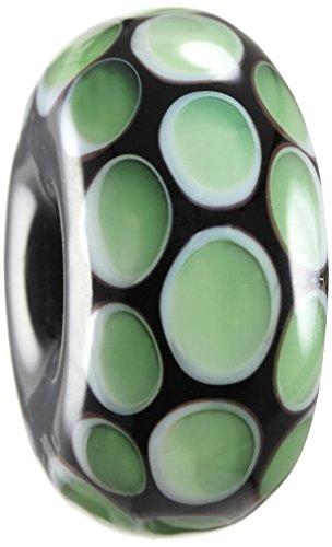Nalu Beads Damen makorori Glas Surf Bead schwarz schwarz / grün 1.65 cm