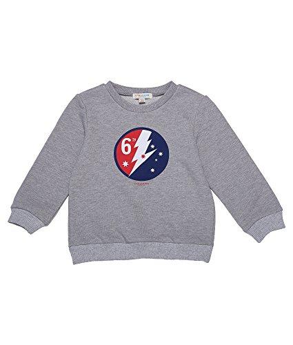 Oceankids Mädchen Baumwoll-T-Shirt mit geripptem Rundhalsausschnitt und Manschetten Grau 4T (Gerippt 4t)