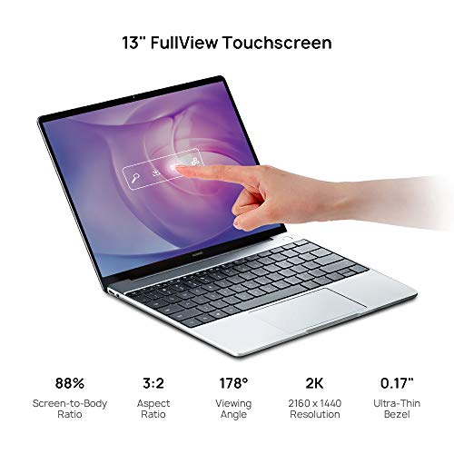 """Huawei Matebook 13 Signature Edn. Laptop - 13"""" 2K Contact, 8th Gen i5, 8 GB RAM, 256 GB SSD, Office 365 Personal 1-Yr, Silver Image 2"""