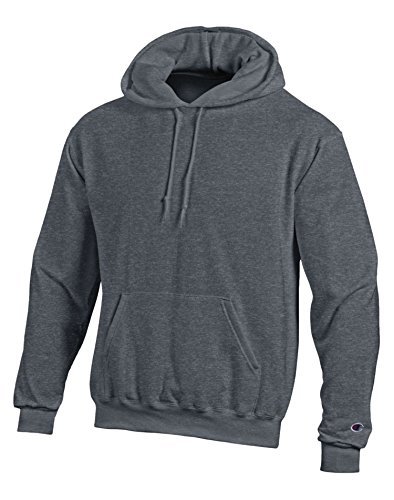 Champion Double Dry Action Fleece Pullover Hood,XX-Large,Charcoal Heather (Fleece-pullover Charcoal)