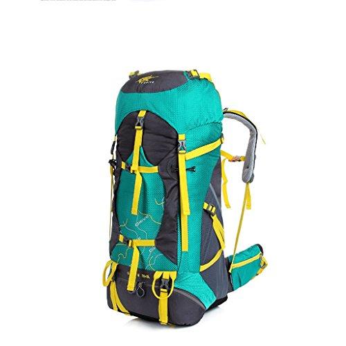 Il nuovo sacchetto di alpinismo di grande capacità zaino impermeabile maschi signora sport all'aria aperta sacchetti di alpinismo di viaggio all'aperto Greenbird