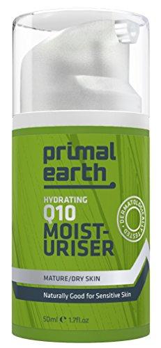 Primal Earth 24 Stunden Feuchtigkeitscreme mit Q10 - 24h 100% Natürlich Aktive Gesichtspflege - 50ml