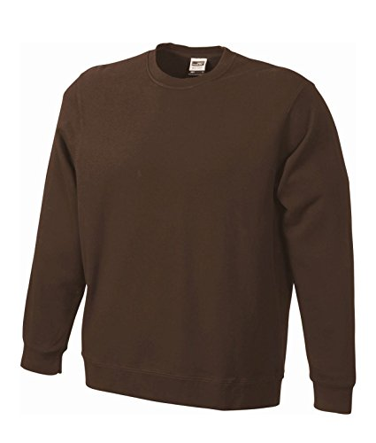 Felpa classica in french terry Basic Sweat Brown