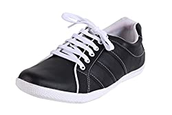 Quarks Synthetic Leather Shoe Black