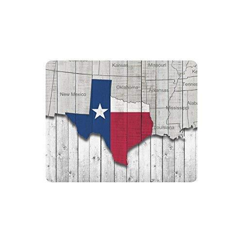 Luancrop Texas State Map mit Amerika Karte auf Holz Hintergrund Rechteck rutschfeste Gummi komfortable Computer-Maus-Pad Gaming Mousepad Matte mit Designs -