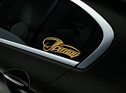 Iceman Kimi Raikkonen F1 Auto- Fenster-Aufkleber- Abziehbild- Styling, Gold - Getönte Fenster-abziehbild