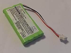 Batterie Ni-MH vhbw 700mAh (9.6V) pour appareil de mesure de fréquence cardiaque Toitu FD390 Doppler. Remplace: 6075.