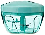 Pigeon Handy Chopper Plastic with 3 Blades for Easy and Comfortable Chopping of Fruits & Vegetables with Strong Plastic Material