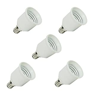 AllLife E12 auf E27 Lampensockel-Adapter, 5 Stück