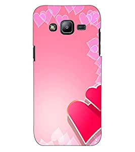 ColourCraft Love Hearts Design Back Case Cover for SAMSUNG GALAXY J2 J200G