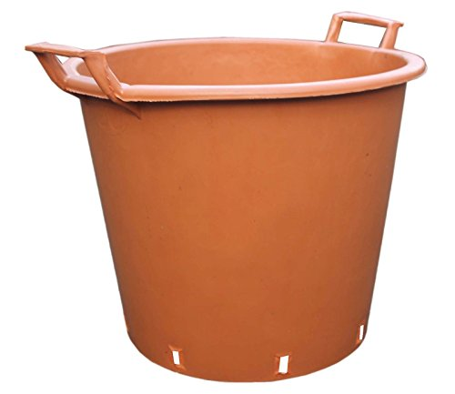 2-x-large-size-30l-terracotta-plastic-plant-pot-garden-tall-flower-herb-tree-planter-container