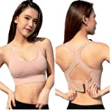 Fashiol ®High Impact Sports Bras for Women Wirefree Full Coverage Padded Sports Bra 4 Hook Fits from Size (32-36) (C-Cup…