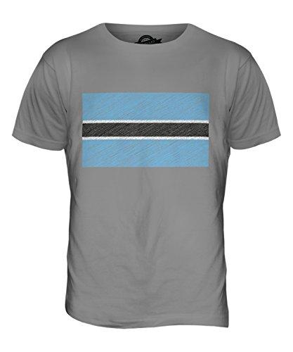 CandyMix Botswana Kritzelte Flagge Herren T Shirt Hellgrau