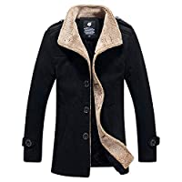 Men Autumn Casual Daily Coats Mens Autumn Winter Outdoor Warm Thickened Jacket Fleece Coat Jacket Top Blouse Black