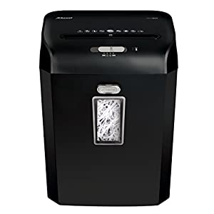 Rexel Promax Manual Strip Cut Shredder, For Personal or Executive Use (Up To 2 Users), 8 Sheet Capacity, 23L Bin, Black, Extended Run Time, Promax RES823, 2101337A
