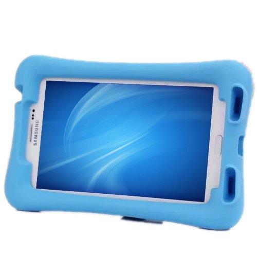 NEWSTYLE Samsung Galaxy Tab 3 7.0 Kinderfreundliche Silikon Hülle Schutzhülle Tasche Case für Samsung Tab 3 P3200 / P3210 / T211 / T210 (7 Zoll) - Blau (7 Zoll Tablet Tasche Für Mädchen)