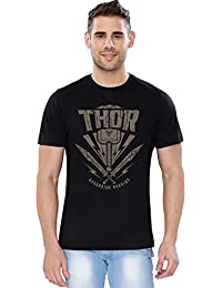 The Souled Store Thor: Asgardian Warrior Superhero Printed Premium BLACK Cotton T-shirt for Men Women and Girls