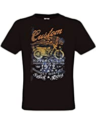 Ethno Designs - American Made Tradition - Motard T-Shirt pour Hommes - Old School Rockabilly Vintage Shirt Retro Style - regular fit