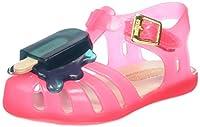 Lollypop applique kids velcro secured plastic sandals from Melissa.
