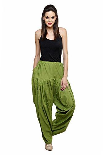 Pistaas Mehendi Green full cotton patiala salwar