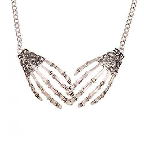 Skelett Hände Halskette Gothic ()