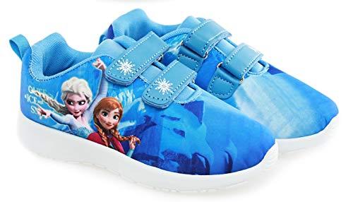 Frozen Sneaker Mädchen Klettverschluss völlig unverfroren Eiskönigin 26 27 28 29 30 31 32 33 (31 EU)