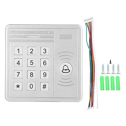 Tonysa Tür Zutrittskontroll Keypad, 125 kHz ID Karte/Passwort/ID Karte + Passwort Türöffner, Zugriffskontroll Tastatur Tür Security Entry System mit Relais signalausgang (Tür-entry-system)