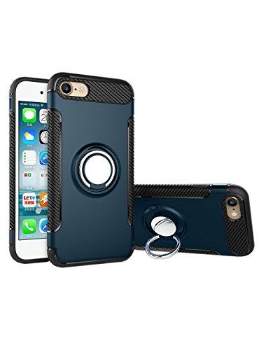 Coque iPhone 8,Case Ultra Mince Protection-Bague Ring Stand Holder-360 degrés sur la béquille ,Hybride Anti-scratch Housse Etui, - MMY Housse Etui Coque Pour iPhone 8-Rouge 8
