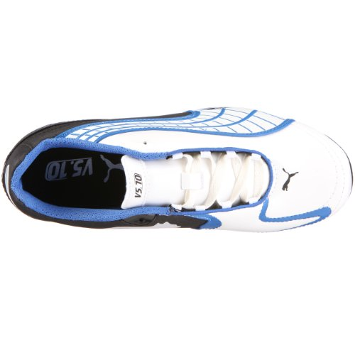 PUMA 101831 09 v5.10 r MG Jr, Jungen Sportschuhe - Fußball Weiss (White Pearl-Black-Puma Royal)