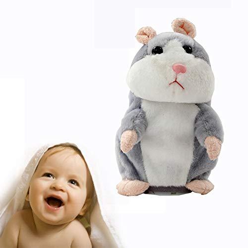 rle Hamster RéPèTe Ce Que Tu Dis Peluche Animal Jouet Souris éLectronique De Hamster Cadeau D'Anniversaire Parfait Pour GarçOn Et Filles(Gris) ()
