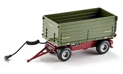 SIKU 6781 - Remorque basculante bilatérale télécommandée1:32, Métal/Plastique, Vert, Compatible avec véhicules SIKU CONTROL avec attelage de remorque