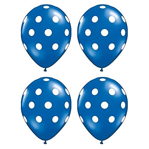 YANODA 10 Stücke Latex Luftballons 2,8g Polka Dot Marienkäfer Hochzeit Dekorationen Liefert Baby Shower Balloons Ball (Color : Dark Blue Black)