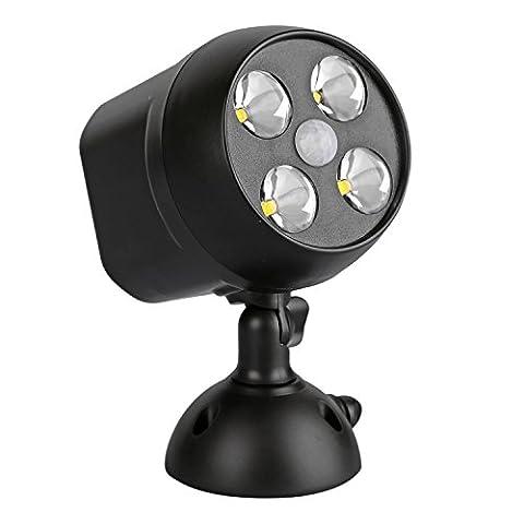 NICREW Batteriebetriebener LED Außenleuchte Sicherheitslicht mit Bewegungsmelder / PIR-Sensor,
