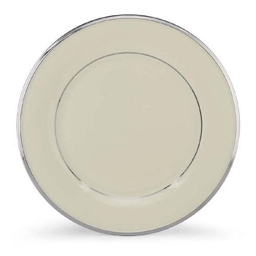 Lenox Solitaire Platinum Banded Ivory China Dinner Plate by Lenox Lenox Solitaire Platinum
