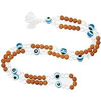 Boho Chic Mala Beads Rudraksha with Evil Eye Protection from Negative Energies