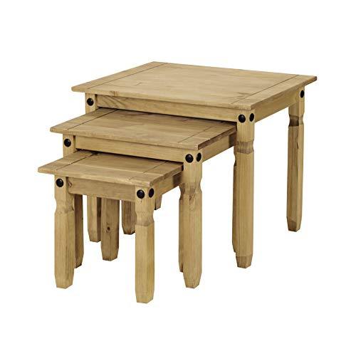 Corona Tables gigognes, Bois de pin Massif