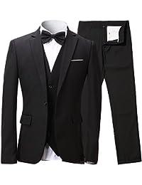 Traje de hombre de una fila de botones, 3 piezas de blazer, chaqueta chaleco & Pantalón incluido