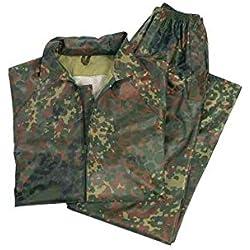Miltec Tenue de pluie composée d'une veste et d'un pantalon, Camouflage, X-Large
