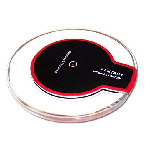 Camellia Ultradünne kristall k9 Wireless ladegerät schnellladung runde Basis Sender für iPhone x Handy qi (schwarz) (Wireless-ladegerät Sender)