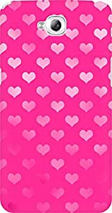 AMEZ designer printed 3d premium high quality back case cover for LG G Pro Lite (pink hearts love)