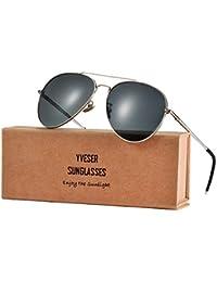 Yveser UV400 Polarized Sunglasses for Men & Women Yv1816(Ultra-light magnesium aluminum alloy sunglasses; the glasses arms can be bent back to 180 degrees)